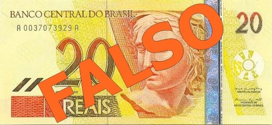 Center nota 20 reais falsa s o jos do egito